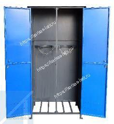 шкаф для газовых баллонов 50 л двойной уличный купить