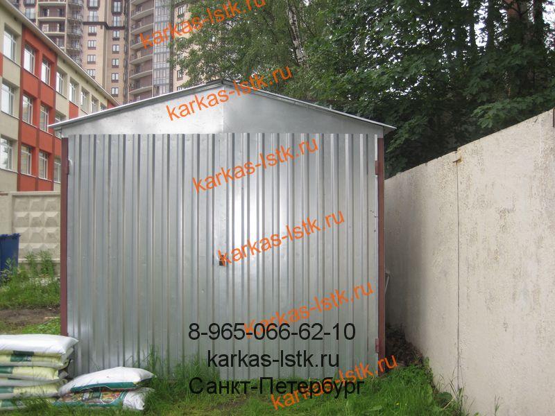 гараж из профнастила в ленинградской области
